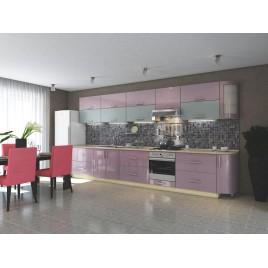 """Кухня прямая """"Элит"""" розовый металик"""