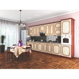Кухня прямая Платинум Рельеф пастель