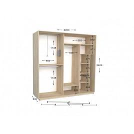 Четырехдверный шкаф-купе Практик 101/4 220х60х240 см