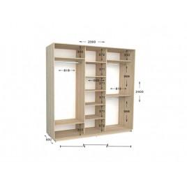 Трехдверный шкаф-купе Практик 105 230х60х240 см