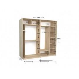 Двухдверный шкаф-купе Практик 106/2 230х60х240 см