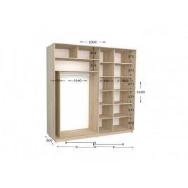 Двухдверный шкаф-купе Практик 110/2 230х60х240 см