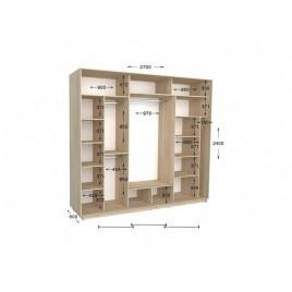 Трехдверный шкаф-купе Практик 143 270х60х240 см