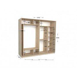 Четырехдверный шкаф-купе Практик 144 270х60х240 см