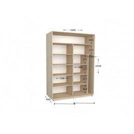 Двухдверный шкаф-купе Практик 48 150х60х240 см