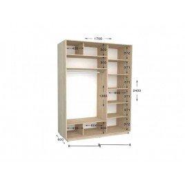 Двухдверный шкаф-купе Практик 57 170х60х240 см