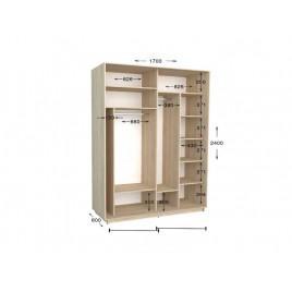 Двухдверный шкаф-купе Практик 60 170х60х240 см