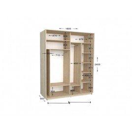 Двухдверный шкаф-купе Практик 68 180х60х240 см