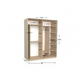 Двухдверный шкаф-купе Практик 71 180х60х240 см