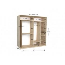 Двухдверный шкаф-купе Практик 90 210х60х240 см