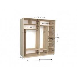 Двухдверный шкаф-купе Практик 91 210х60х240 см