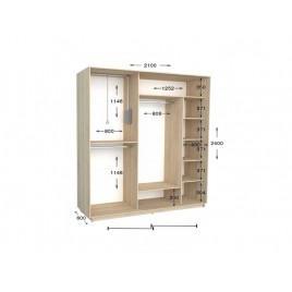 Двухдверный шкаф-купе Практик 92 210х60х240 см