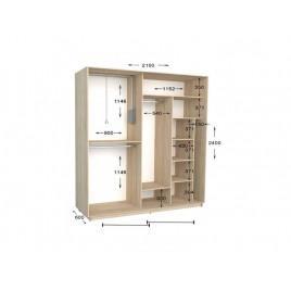 Двухдверный шкаф-купе Практик 93 210х60х240 см