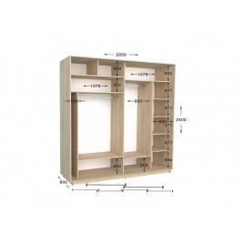 Двухдверный шкаф-купе Практик 99/2 220х60х240 см