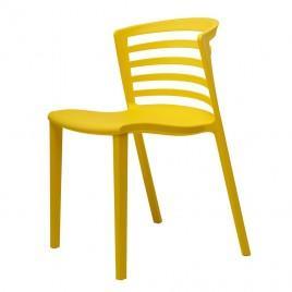 Cтул пластиковый BREEZE (желтый)