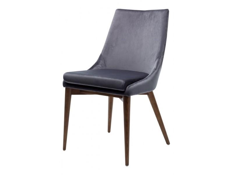 Кресло велюр BRIGHTON (серый графит 2)