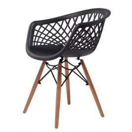 Кресло пластиковое LACE (черный)