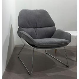 Кресло лаунж SERENITY (серый)