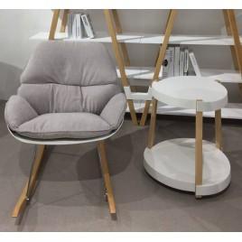 Кресло -качалка SERENITY (светло-серый)