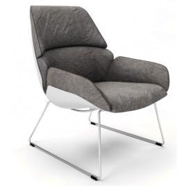 Кресло лаунж SERENITY (светло-серое)