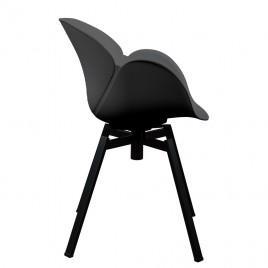Кресло пластиковое поворотное SPIDER (черный)