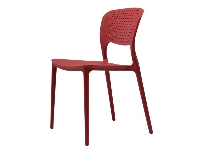 Cтул пластиковый SPARK (красный)