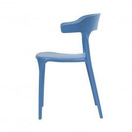 Cтул пластиковый LUCKY (голубой)