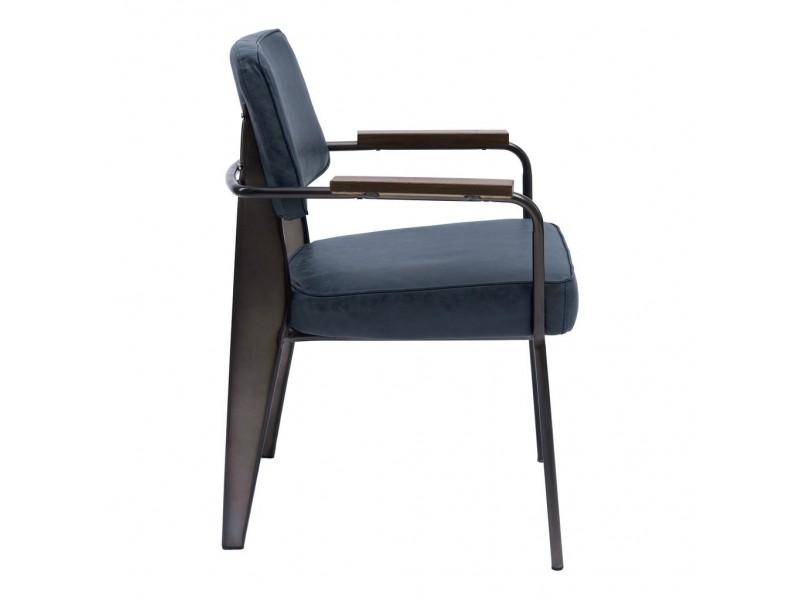 Кресло мягкое TREND (синий)