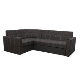 Угловой диван Элегант 2 Темно серый