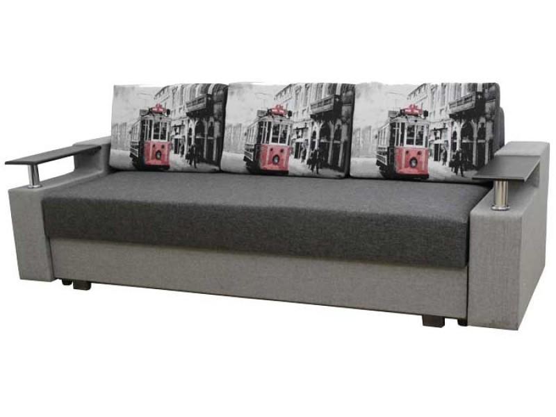 "Прямой диван Еврокнижка ткань ""71"""