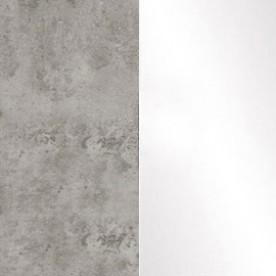 Бетон/Белый глянец