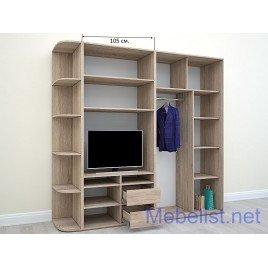 Шкаф-купе под телевизор ШКTv1 (255x60x240 см.)