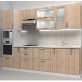 Кухня прямая фасады ДСП 3