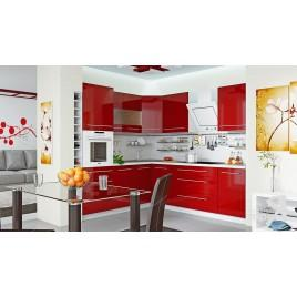 """Кухня угловая """"Red gloss"""""""