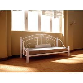 Металлическая кровать-диван Орфей на деревянных ногах