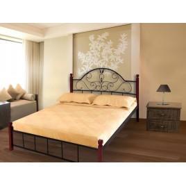 Металлическая кровать Анжелика на деревянных ногах