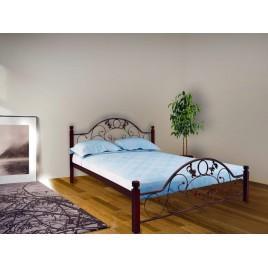 Металлическая кровать Франческа на деревянных ногах