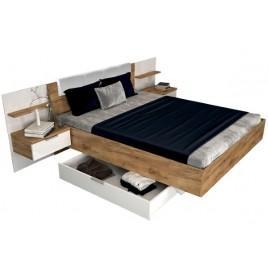 """Кровать """"Асти"""" 160х200 мягкая спинка с тумбами"""