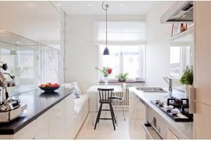 Что делать с узкой кухней? Превращаем минус в плюс