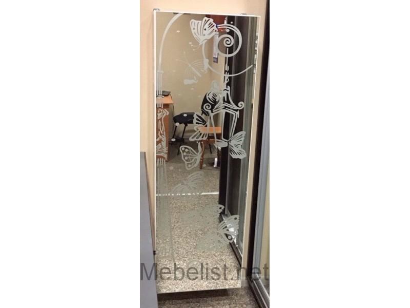 Тумба для обуви навесная Компакт (фасад зеркало с рисунком)