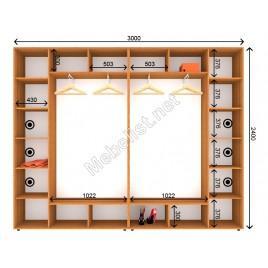 Четырехдверный шкаф-купе ШК 21-21-24 (300*45*240 см.)