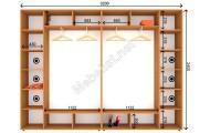 Четырехдверный шкаф-купе ШК 22-22-24 (320*45*240 см.)