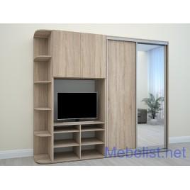 Шкаф-купе под телевизор ШКTv2 (285x60x240 см.)