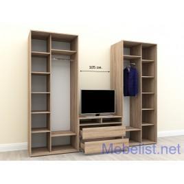 Шкаф-купе под телевизор ШКTv5 (365x60x240 см.)