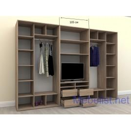 Шкаф-купе под телевизор ШКTv4 (325x60x240 см.)