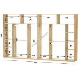 Четырехдверный шкаф купе Стандарт 400*60*240 см