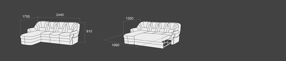 """Угловой диван-кровать """"Болеро-3"""""""