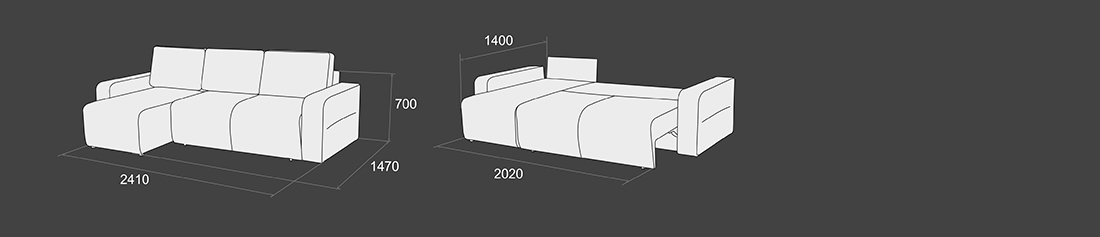 """Угловой диван-кровать """"Шарм-10"""""""