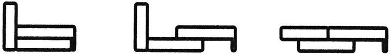 Прямой диван DIANA 1 / ДИАНА 1